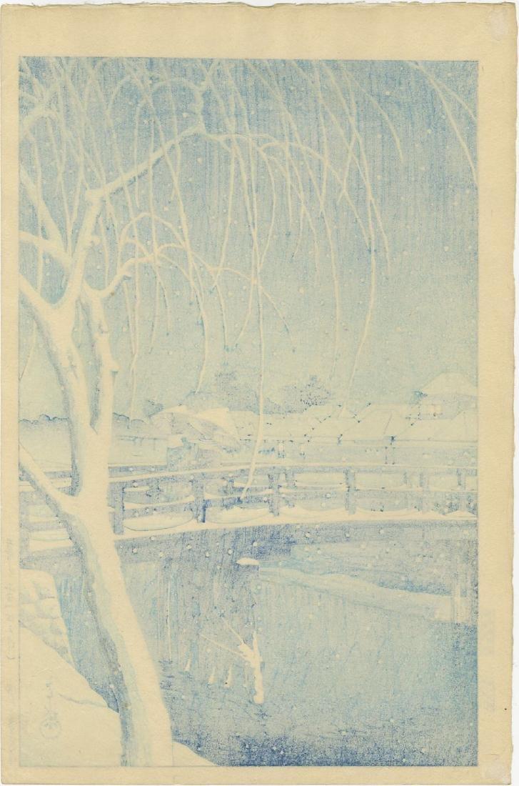 Hasui Kawase: Evening Snow Azuri Woodblock Lifetime Ed. - 2