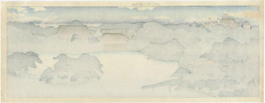 Hasui: Daisensui Panorama Woodblock 1920 Pre-Earthquake - 2