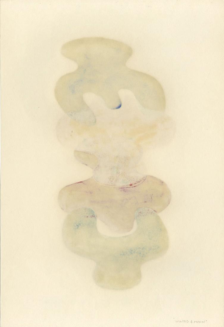 Sora Mitsuaki: Winds & Moon woodblock 1st Ed. 1969 - 2