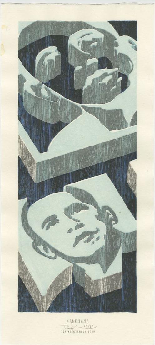 Tom Kristensen - Nanobama #24/35 woodblock