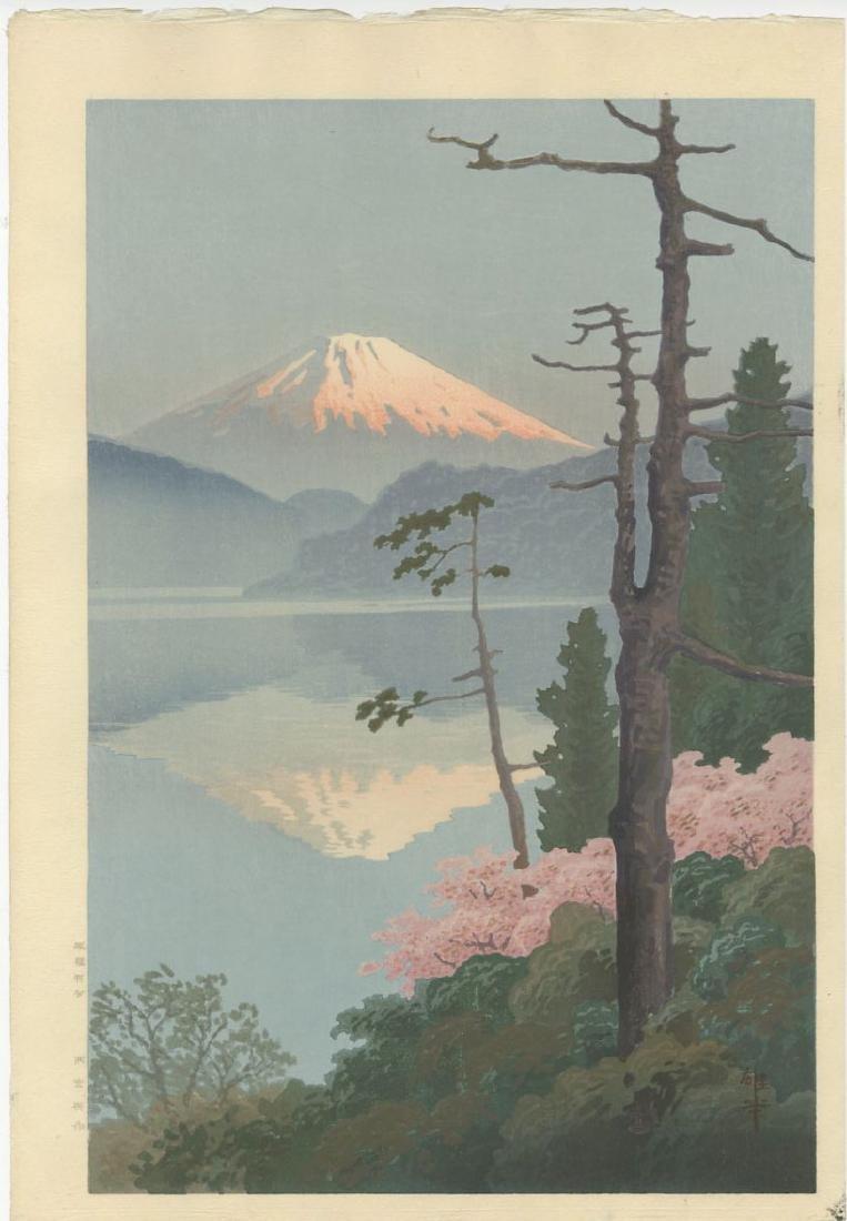 Ito Yuhan - Fuji from Tagonoura 1930 woodblock