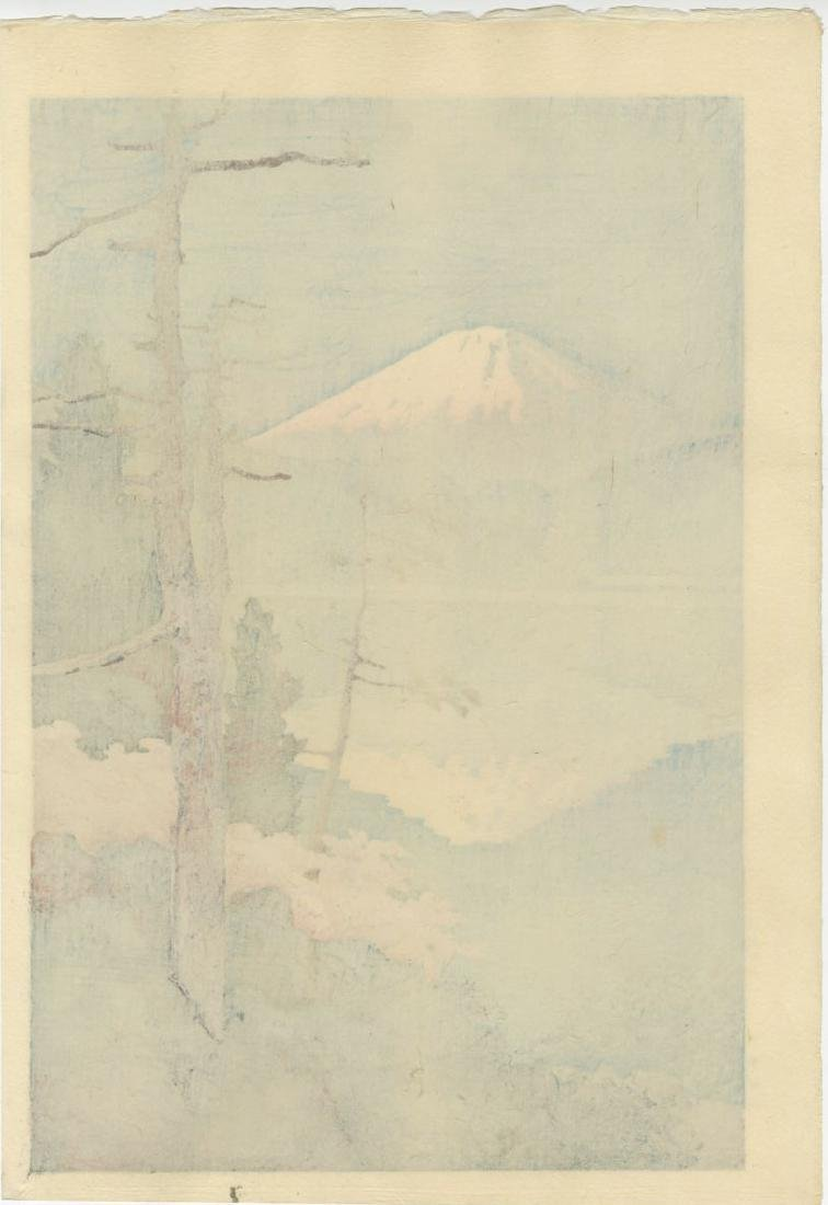 Ito Yuhan - Fuji from Tagonoura 1930 woodblock - 2