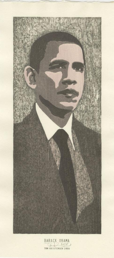 Tom Kristensen - Barack Obama #20/35 woodblock Sold Out