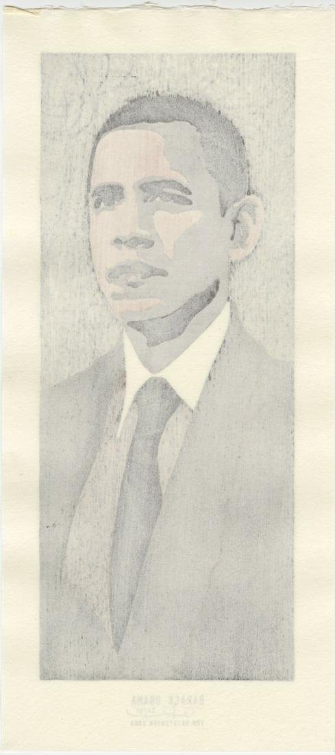 Tom Kristensen - Barack Obama #20/35 woodblock Sold Out - 2