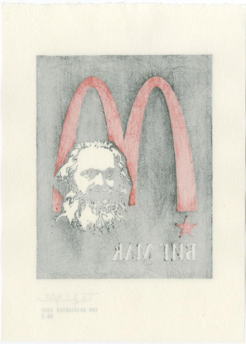 Tom Kristensen - M is for Marx #6/30 woodblock 2009 - 2