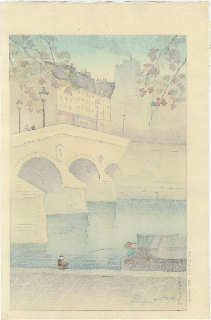 Sekiguchi - Pont Mari Bridge, France 1951 woodblock - 2