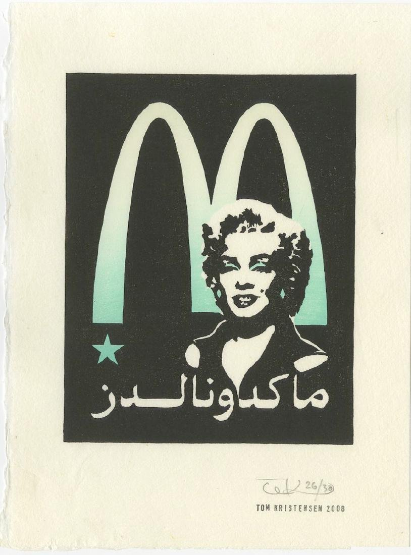 Tom Kristensen - M is for Marilyn (#26/30) woodblock