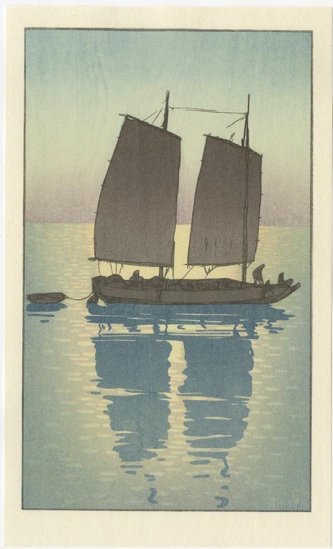 (After) Hiroshi Yoshida - Sailing Boat Day woodblock