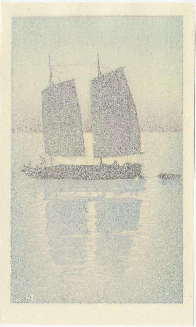 (After) Hiroshi Yoshida - Sailing Boat Day woodblock - 2