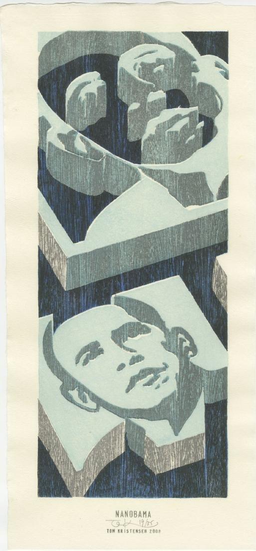 Tom Kristensen - Nanobama #19/35 Limited Ed woodblock
