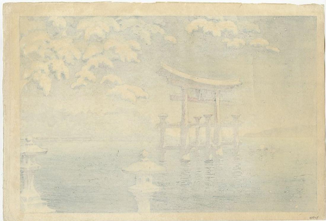 Koitsu Tsuchiya - Snow at Miyajima Doi/Yokoi Woodblock - 2