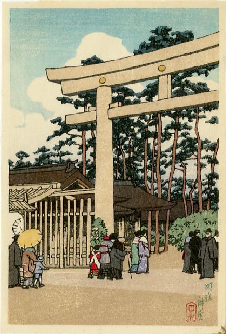 Hasui Kawase: Meiji Shrine, Tokyo 1936 Woodblock