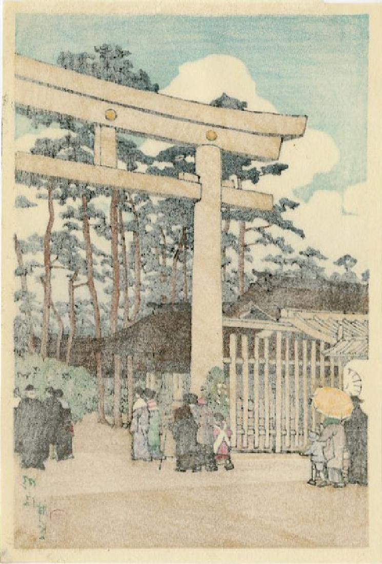 Hasui Kawase: Meiji Shrine, Tokyo 1936 Woodblock - 2