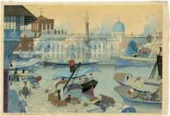 Elizabeth Keith: Manila Harbour 1924 1st Ed Woodbock