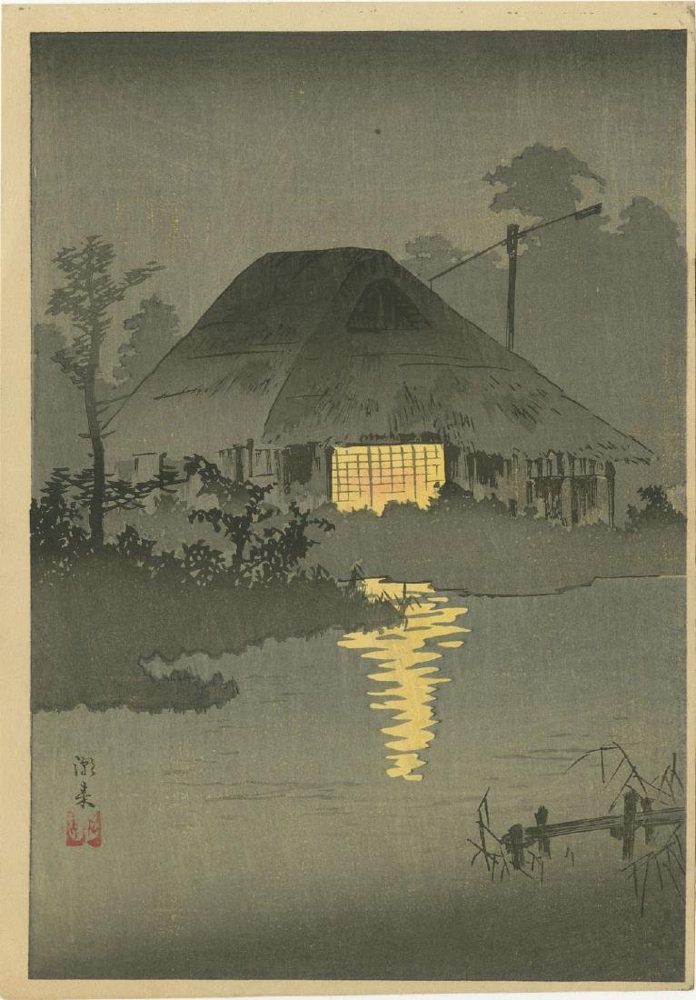 Shotei: Itako Pre-Quake c.1920 1st Ed Woodblock