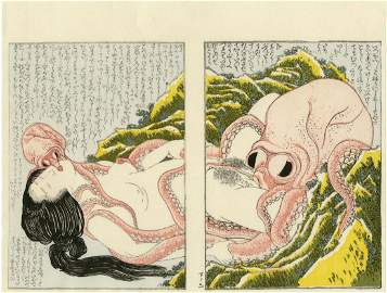 Hokusai: Dream of the Fisherman's Wife Woodblock