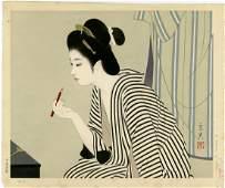 Shimura Tatsumi: Lipstick 1st Ed. Woodblock