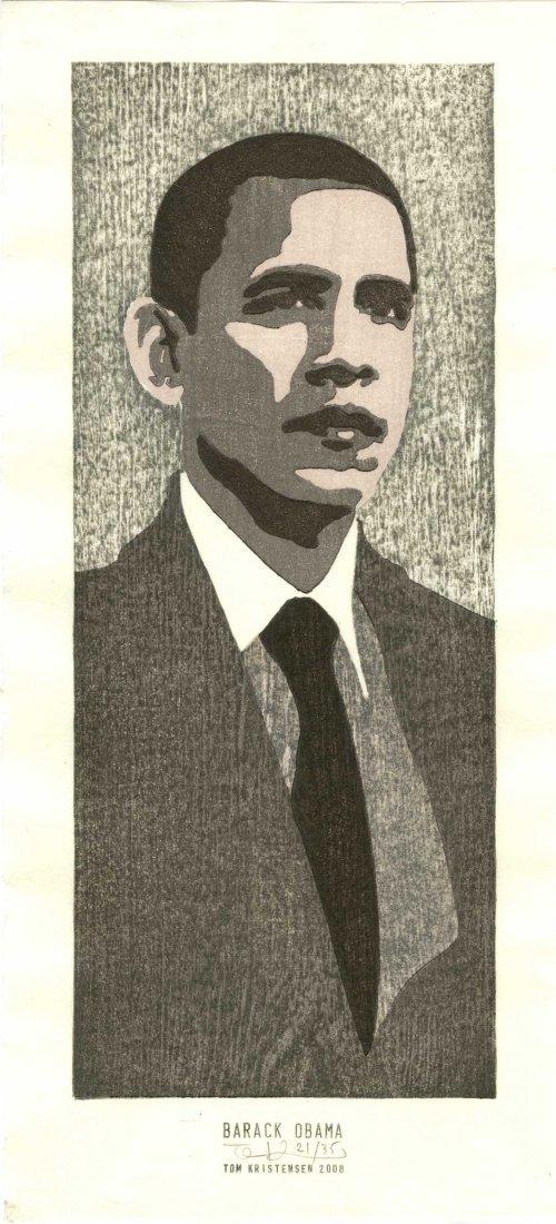 Tom Kristensen - Barack Obama #21/35 woodblock Sold Out