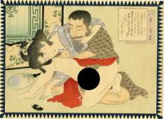 MeijiTaisho Era Deluxe Shunga Erotic 1890s Woodblock