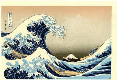 Hokusai Katsuchika: The Great Wave Woodblock