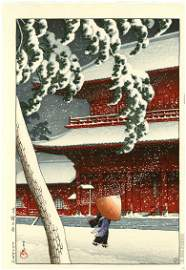 Hasui Kawase: Zojoji Temple 1925 Woodblock