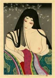 Shusui Taki: The Rokujo Lady 2002 1st Ed Woodblock