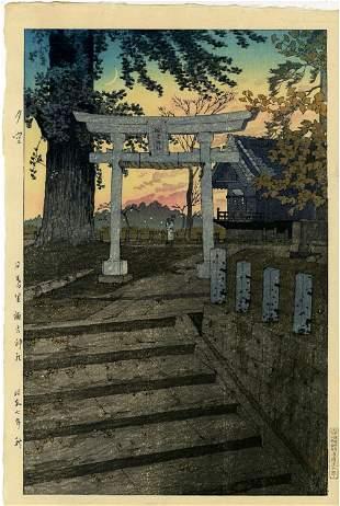 Kasamatsu Shiro - Suwa Shrine, Nippori 1932 D-seal