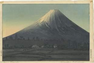 """Shotei Takahashi - Fuji from Tamaho pre-1936 """"D"""" RARE"""