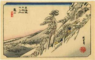 Hiroshige Ando: Clear Weather after Snow Woodblock NR