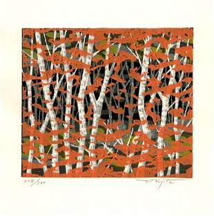 Fujita Fumio: Autumn 1990 1st Edition Woodblock