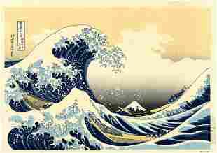 Hokusai Katsuchika: The Great Wave Woodblock XL