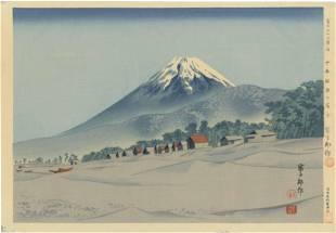 Tomikichiro Tokuriki - Fuji Senbon Matsubara 1940 FIRST