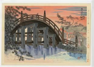 Tomikichiro Tokuriki - Sumiyoshi Shrine 1940 First ED