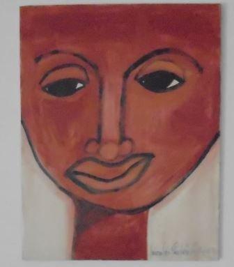 "ORIGINAL PAINT ""CARMELINA"" BY NICOLAS GUILLEN"