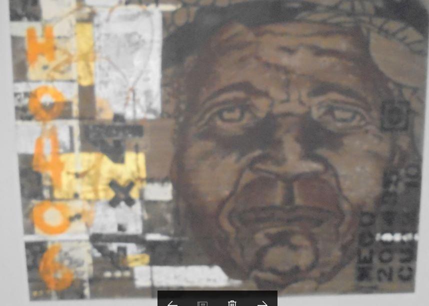 ORIGINAL PAINT & SIGNED BY DWANE TITLED AS '' GRANDPA''