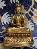Fine Tibetan Gilt-Bronze Amitayus Statue, 18th c.