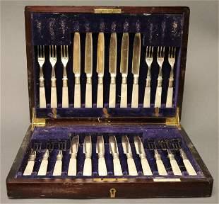 A Silver Plate Knife & Fork Set