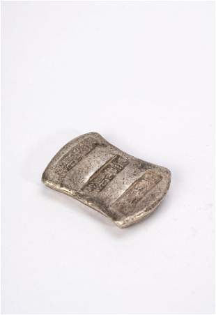 Chinese Silver Ingot with Impressed Marks