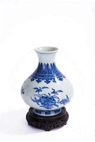 Chinese Blue and White 'Three Abundances' Vase