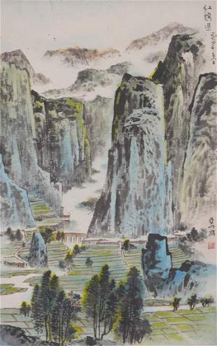 Chinese Color and Ink Landscape Painting, Ya Ming