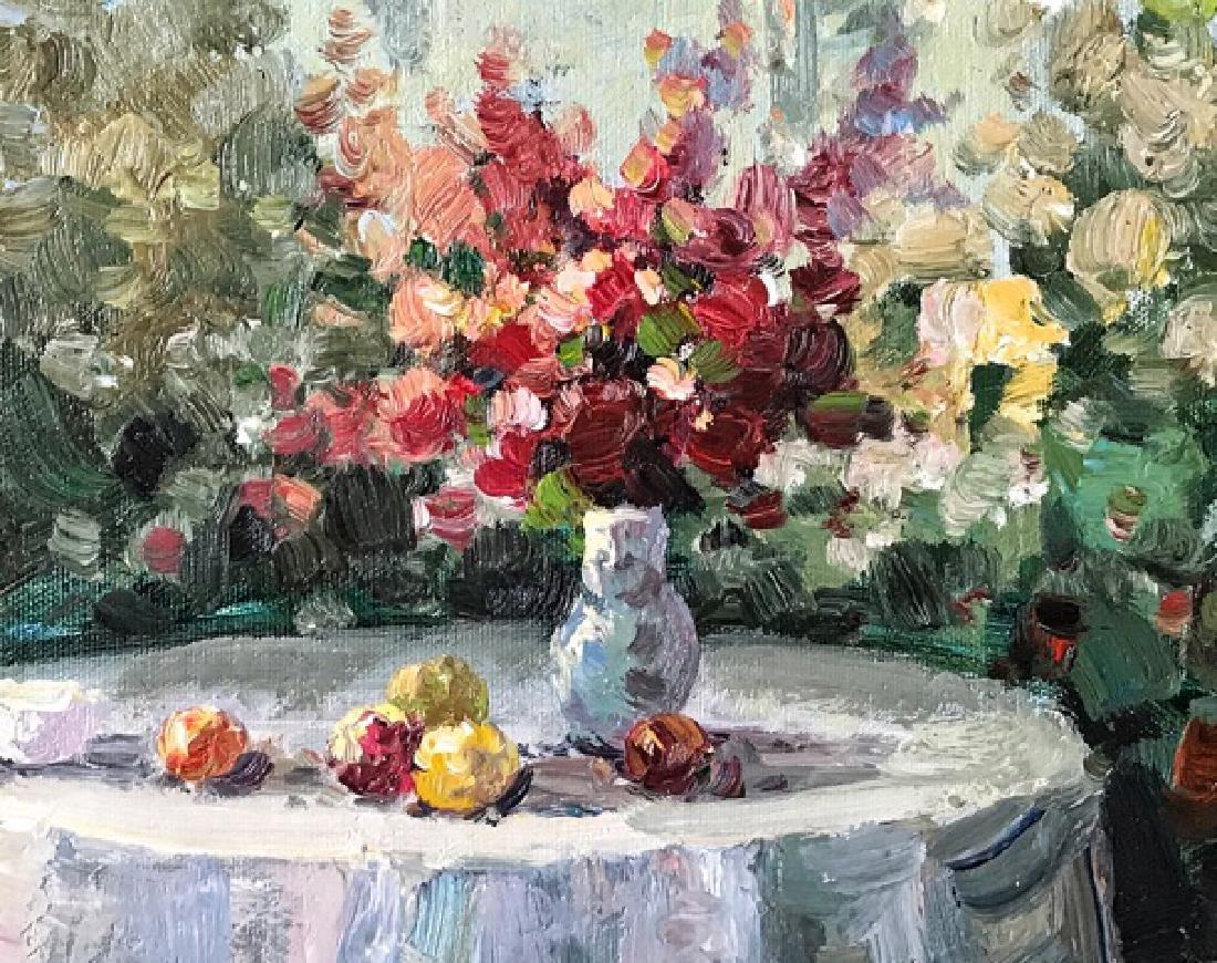 An Oil Painting Of A Garden - 3