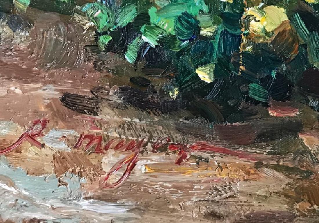 An Oil Painting Of A Garden - 5