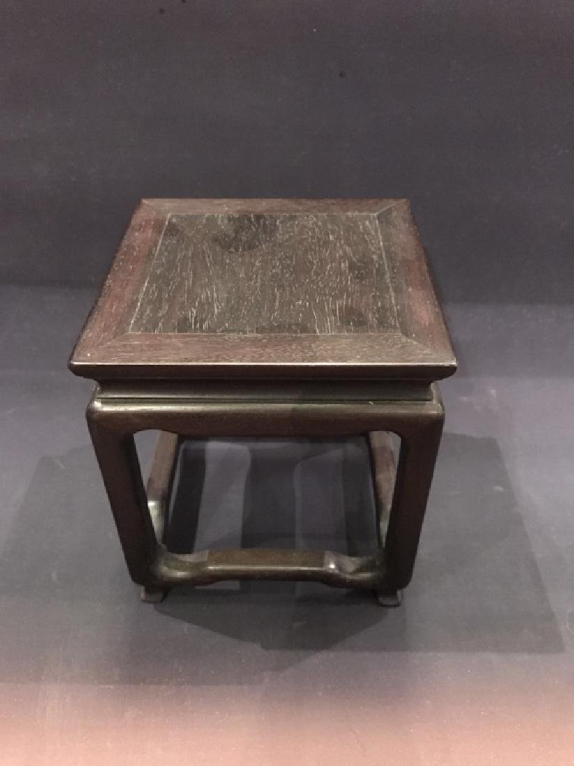 A ZITAN SQUARE TABLE-FORM DISPLAY TABLE
