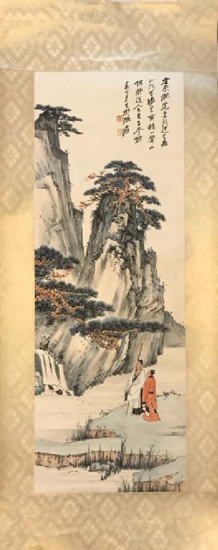 A CHINESE SCROLL PAINTING, ZHANG DAQIAN
