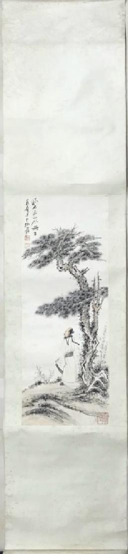 A CHINESE SCROLL PAINTING OF TREE, ZHANG DAQIAN