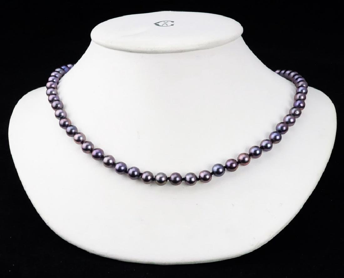 """18"""" TAHITIAN PEARL NECKLACE WITH 14K GOLD CLASP"""
