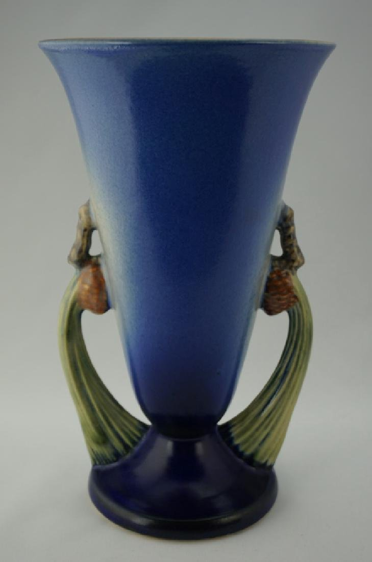 ROSEVILLE POTTERY BLUE PIN CONE VASE