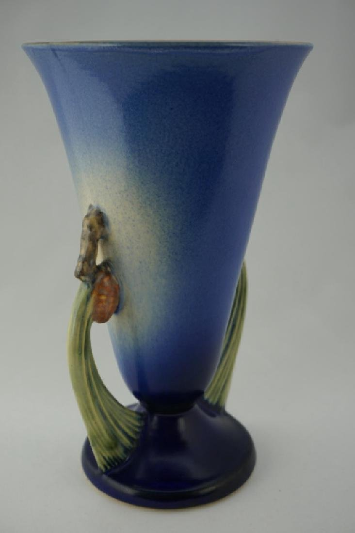 ROSEVILLE POTTERY BLUE PIN CONE VASE - 8