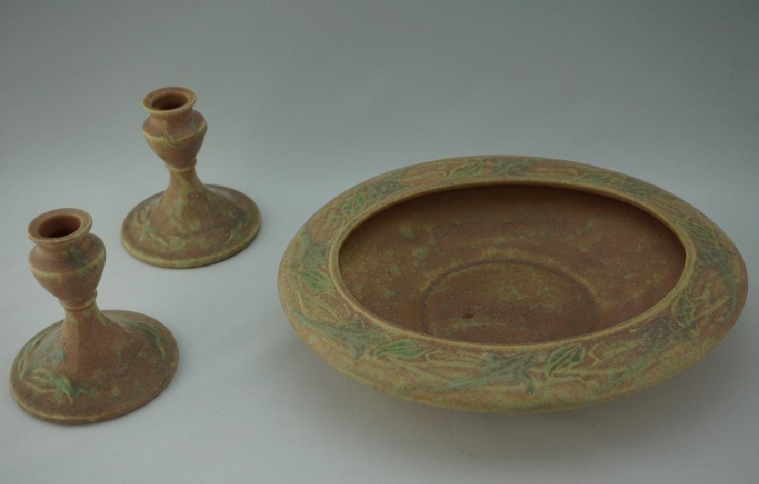 3pcs ROSEVILLE POTTERY CREMONA SET