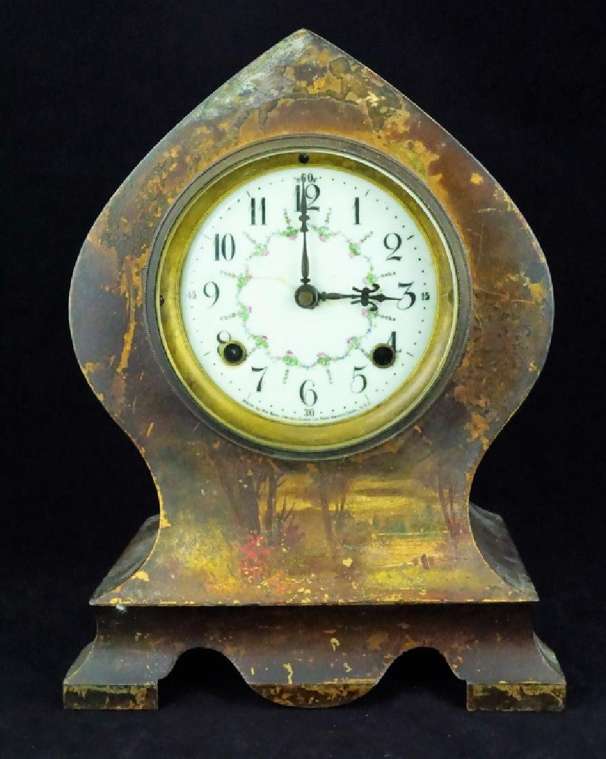 ANTIQUE NEW HAVEN SHELF CLOCK